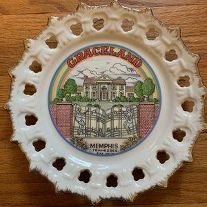 Vintage Graceland Rainbow Souvenir Plate Rare